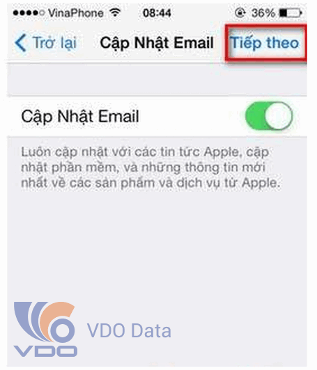 tạo id apple trên iPhone, iPad