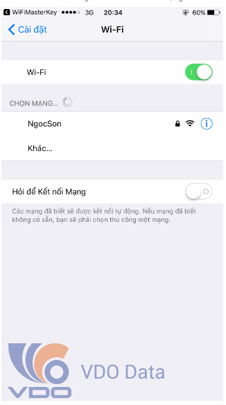 Hack pass wifi trên Iphone