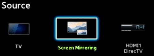 Sử dụng tính năng Screening Mirroring để kết nối điện thoại với tivi