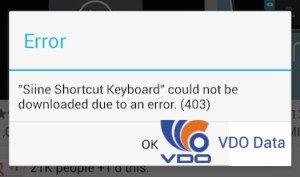 Cách khắc phục lỗi 403 trên Android