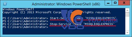 Khởi động/tắt dịch vụ SQL Server từ PowerShell