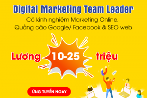 VDO TUYỂN DIGITAL MARKETING TEAM LEADER