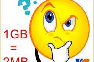Tính Nhanh 1GB Bằng Bao Nhiêu MB